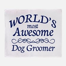 Dog Groomer Throw Blanket