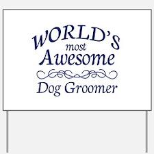 Dog Groomer Yard Sign