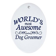 Dog Groomer Ornament (Oval)