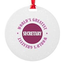 World's Greatest Secretary Ornament