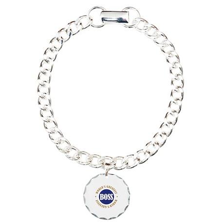World's Greatest Boss Charm Bracelet, One Charm
