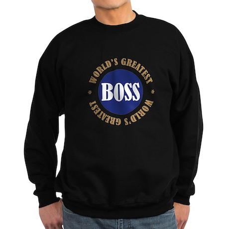 World's Greatest Boss Sweatshirt (dark)