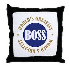 World's Greatest Boss Throw Pillow