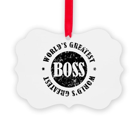 World's Greatest Boss Picture Ornament