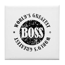 World's Greatest Boss Tile Coaster
