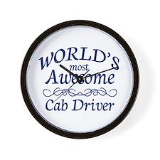 Cab Driver Wall Clock