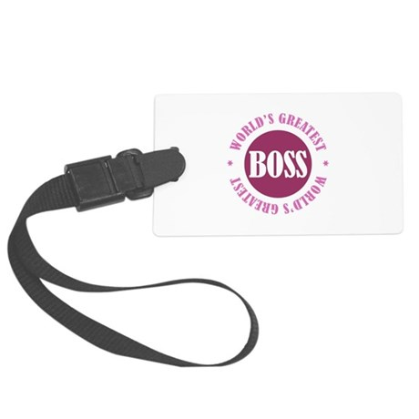 World's Greatest Boss Large Luggage Tag