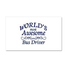 Bus Driver Car Magnet 20 x 12