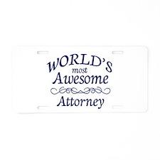 Attorney Aluminum License Plate