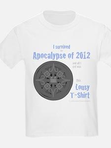 Apocalypse Survivors-blue text T-Shirt