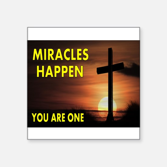 "MIRACLES Square Sticker 3"" x 3"""