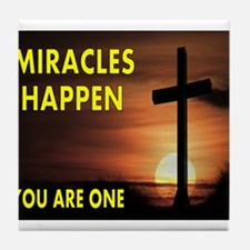 MIRACLES Tile Coaster