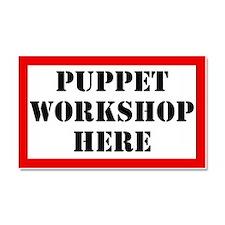 Puppet Workshop Here Car Magnet 20 x 12