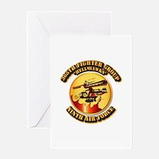 AAC - 365th FG - 9th AF - Hell Hawks Greeting Card