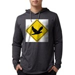 dove-crossing-sign.... Mens Hooded Shirt