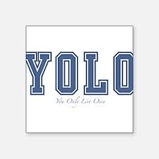 """YOLO Square Sticker 3"""" x 3"""""""