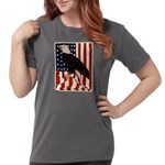 Bald Eagle and Flag Womens Comfort Colors Shirt