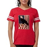 Bald Eagle and Flag Womens Football Shirt