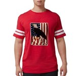 Bald Eagle and Flag Mens Football Shirt