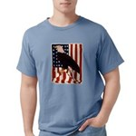 Bald Eagle and Flag Mens Comfort Colors Shirt