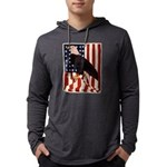 Bald Eagle and Flag Mens Hooded Shirt