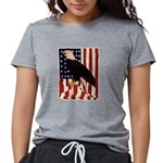 Bald Eagle and Flag Womens Tri-blend T-Shirt