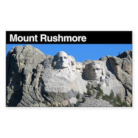 Mount Rushmore National Memor Sticker (Rectangular