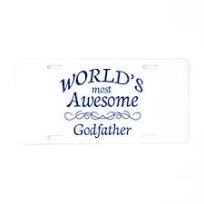 Godfather Aluminum License Plate