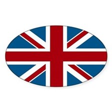 British Flag Oval Decal