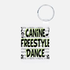 freestyle design words B.png Keychains