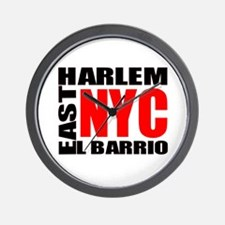 East Harlem NYC Wall Clock