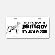 brittany dog bumper.png Aluminum License Plate