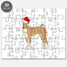 Cute Basenji christmas Puzzle