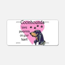 coonhounds pawprints.png Aluminum License Plate