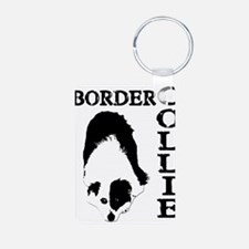Border Collie waiting-4a.png Keychains