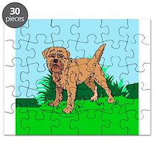 Cute Border terrier christmas Puzzle