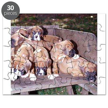 boxer pups sq dry brush.png Puzzle