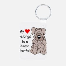 My heart shar pei.png Keychains