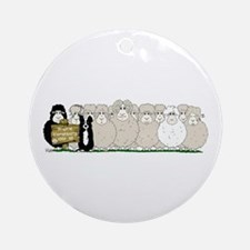 Les Moutons-Final-2.png Ornament (Round)