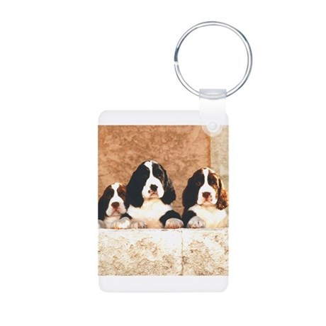 springer pups2 sq.png Aluminum Photo Keychain
