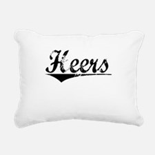 Heers, Aged, Rectangular Canvas Pillow