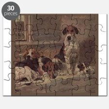 Cute English foxhounds Puzzle