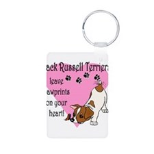 jack russell paw prints.png Keychains