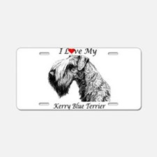 I Luv Kerry-3.png Aluminum License Plate