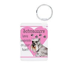 schnauzers paw prints1.png Keychains