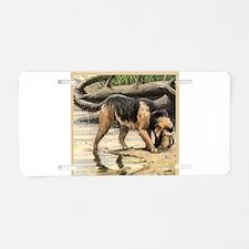 Cute Otterhound Aluminum License Plate