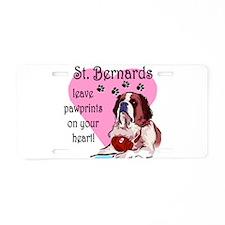 St. Bernards pawprints.png Aluminum License Plate