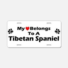 Unique Tibetan spaniel Aluminum License Plate