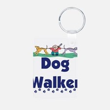 dog walker-3.png Aluminum Photo Keychain