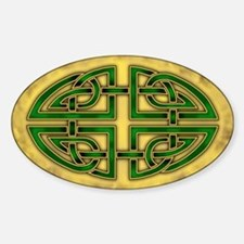 Celtic Knotwork (Green) Oval Bumper Stickers